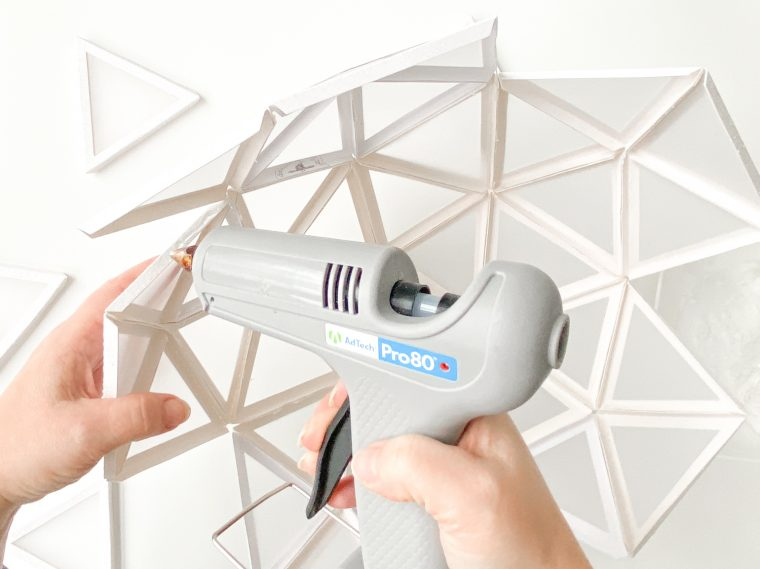 Use a glue gun to assemble your triangles.