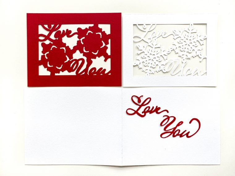 Valentine's Day SVG for a DIY handmade card.