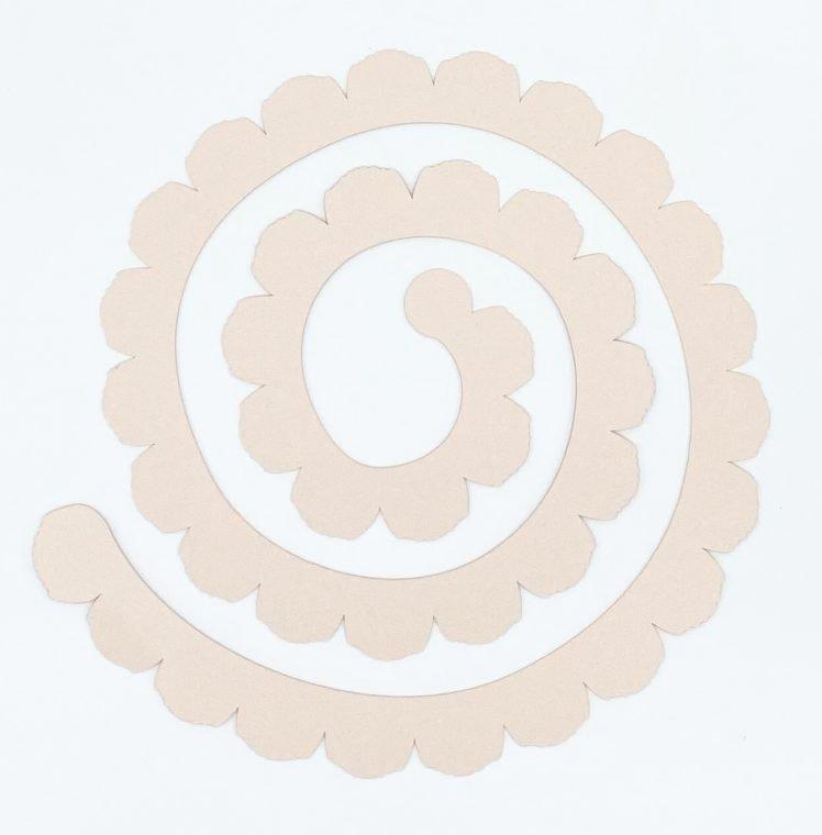 Basic SVG cut file for a paper flower.