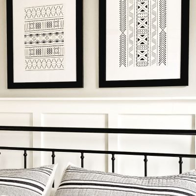 DIY Wall Art With Free Black & White Line Art SVG