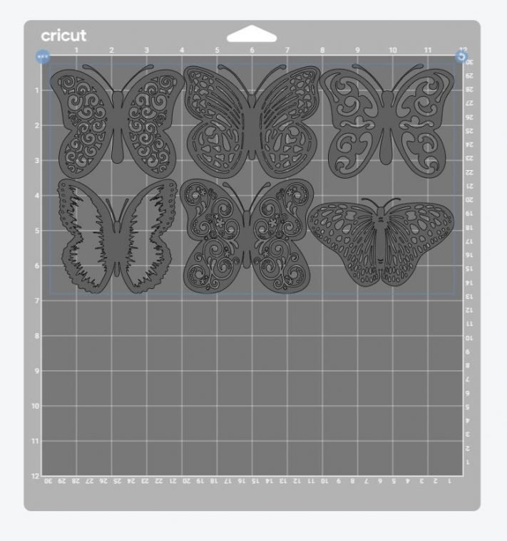 Butterfly SVG preview in Cricut Design Space