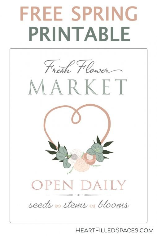 Free Fresh Flower Market sign to print for your home decor.