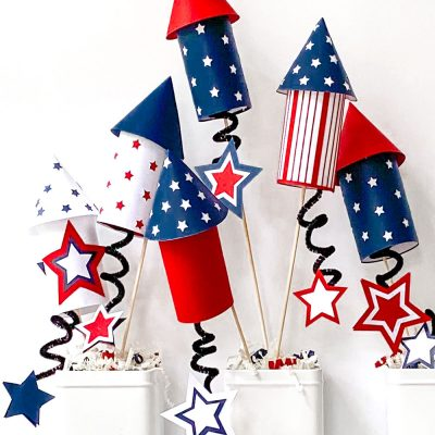 Paper Rocket Craft With Free Templates