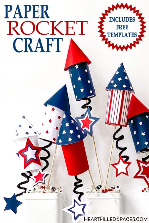 How to make paper rockets with free templates.