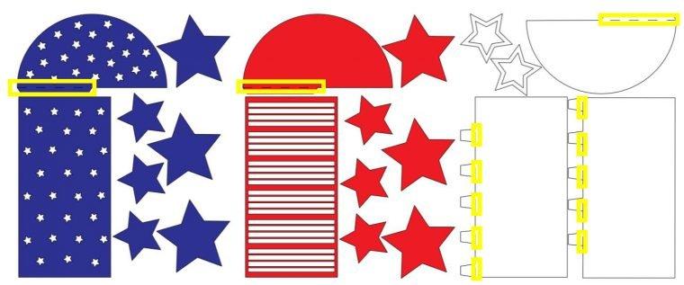 Score lines for a paper rocket.