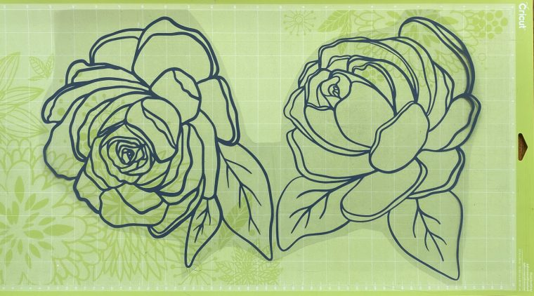 Free flower SVG files for DIY reverse canvas craft.