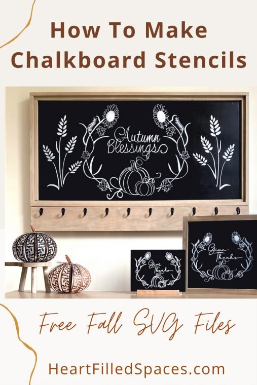 How to make stencils with a Cricut or Silhouette Cameo and use them to update your chalkboard art.