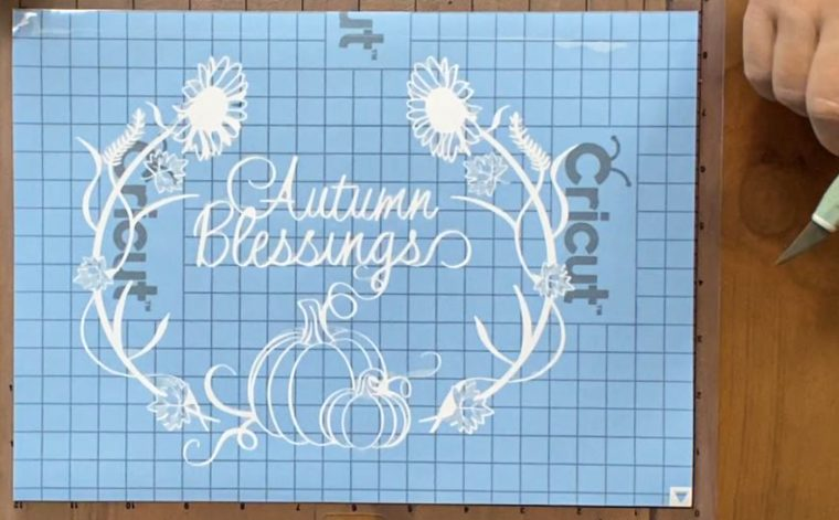 How to weed Cricut Stencil Vinyl